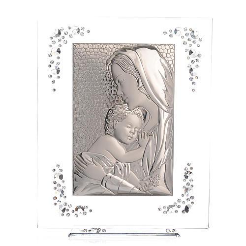 Quadro Maternità Argento e Swarovski Bianco 1