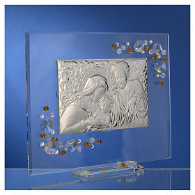 Favour, Holy Family picture with amber Swarovski 19x16cm s7