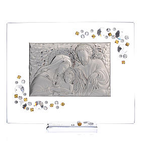 Favour, Holy Family picture with amber Swarovski 19x16cm s1