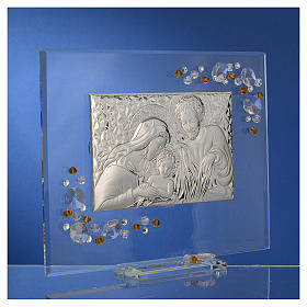 Favour, Holy Family picture with amber Swarovski 19x16cm s3