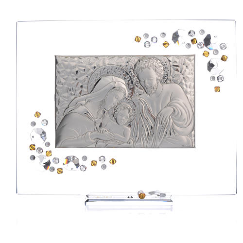 Favour, Holy Family picture with amber Swarovski 19x16cm 5
