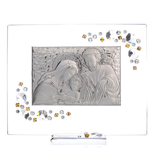 Favour, Holy Family picture with amber Swarovski 19x16cm 1
