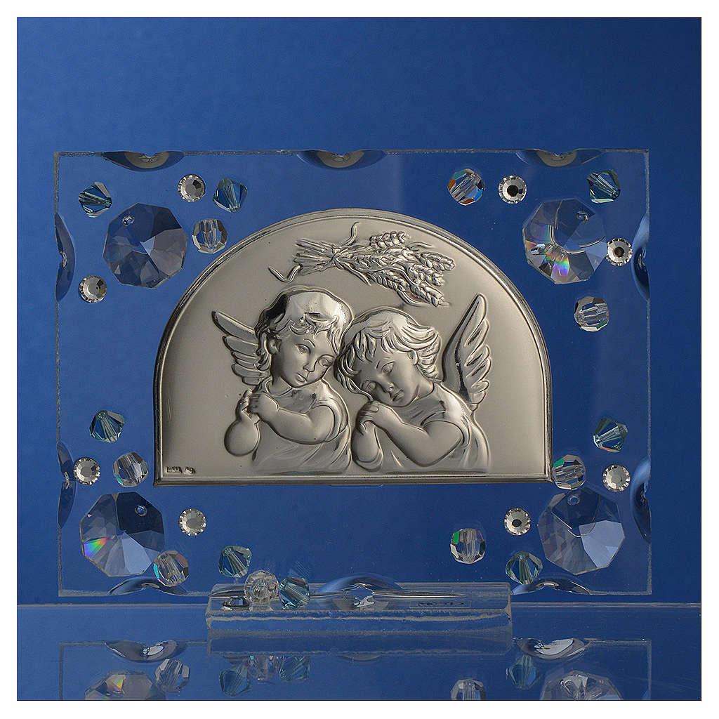 Bonbonnière Baptême automne Swarovski aigue-marine 3