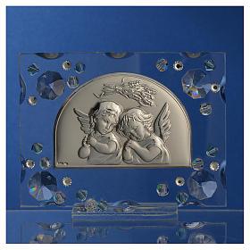 Bonbonnière Baptême automne Swarovski aigue-marine s2