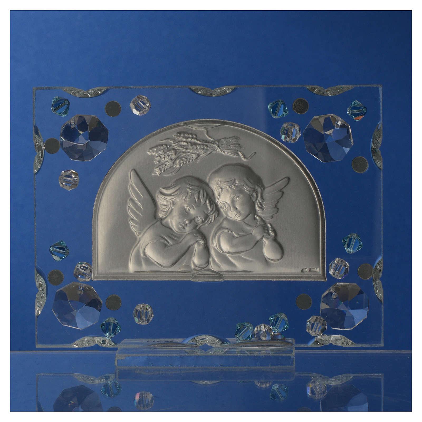 Bomboniera Battesimo Autunno Swarovski acquamarina 3