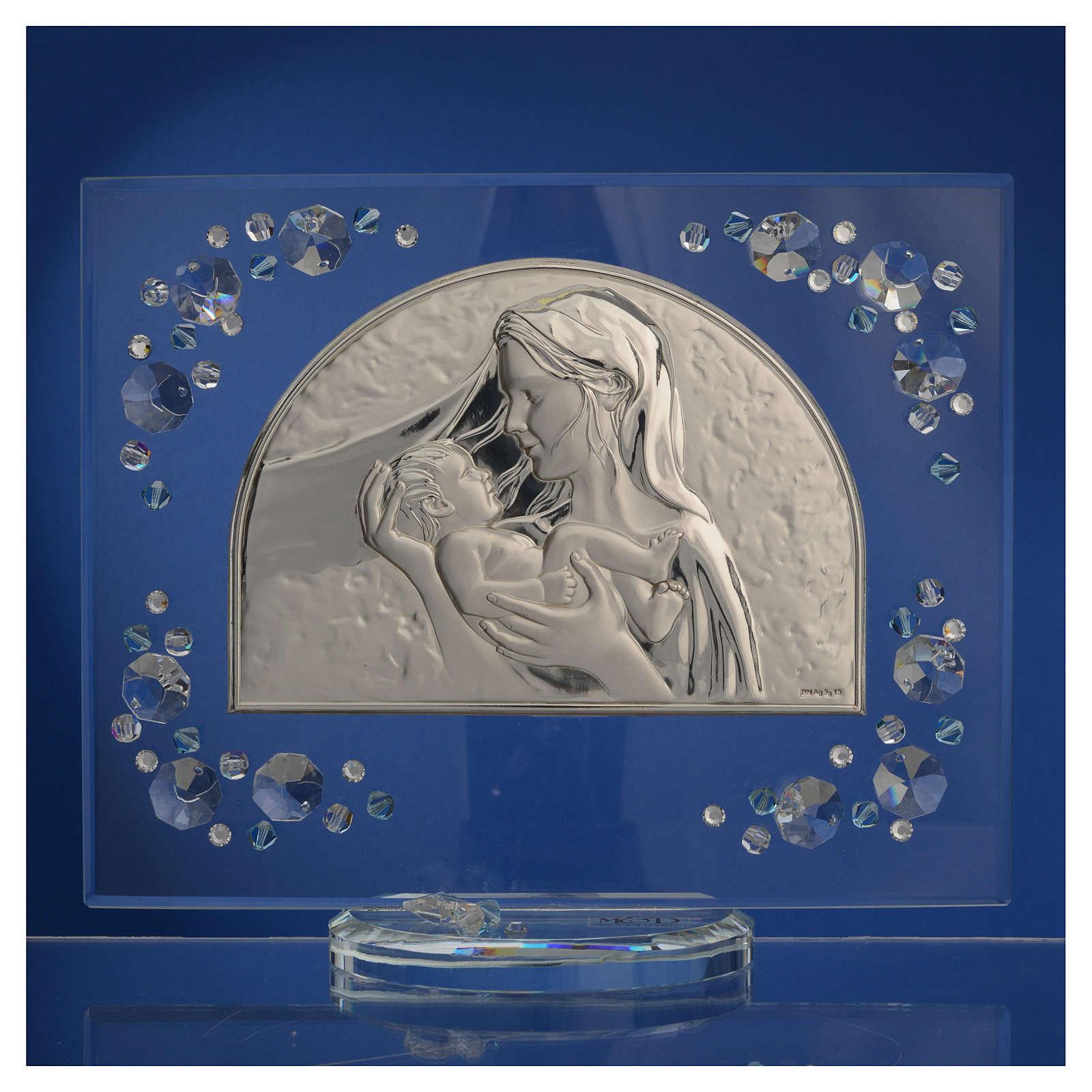 Quadro arco immagine Maternità Swarovski acquamarina 3