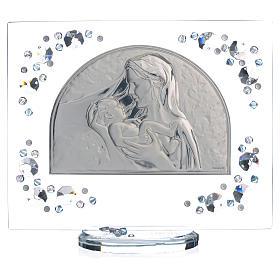 Quadro arco immagine Maternità Swarovski acquamarina s5
