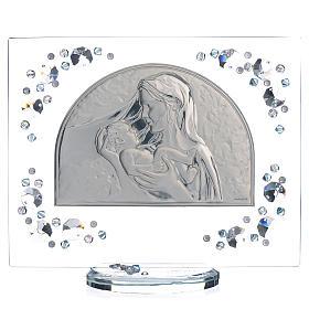 Quadro arco immagine Maternità Swarovski acquamarina s1