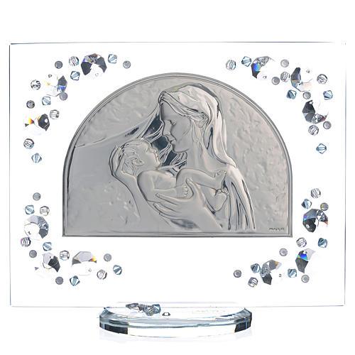 Quadro arco immagine Maternità Swarovski acquamarina 1