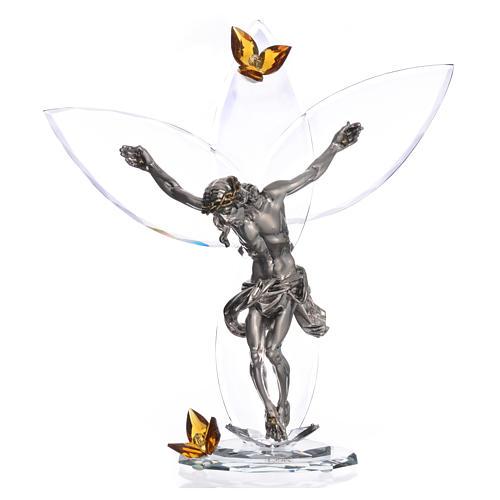 Crucifijo con cristales Ámbar 32 cm 1