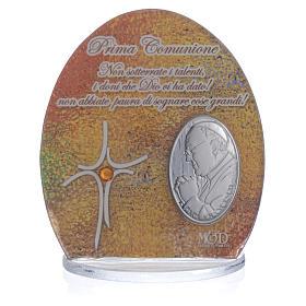 Cuadro Comunión Papa Francisco  8,5 cm s3