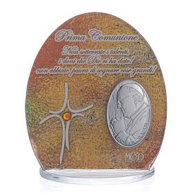 Cuadro Comunión Papa Francisco  8,5 cm s1