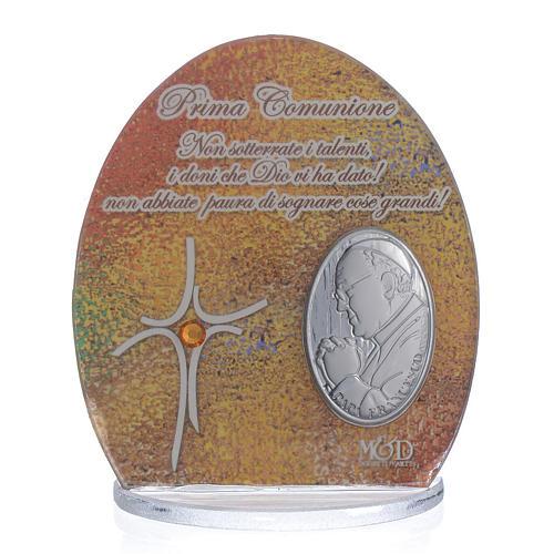 Cuadro Comunión Papa Francisco  8,5 cm 1