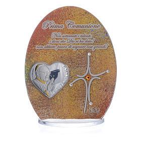 Cuadro Comunión Papa Francisco 10,5 cm s3