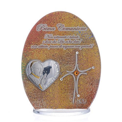 Cuadro Comunión Papa Francisco 10,5 cm 1