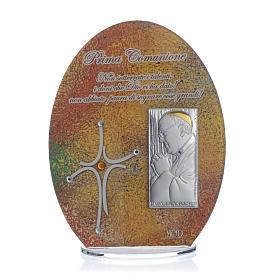 Bomboniera Prima Comunione quadro Papa Francesco 16,5 cm s1