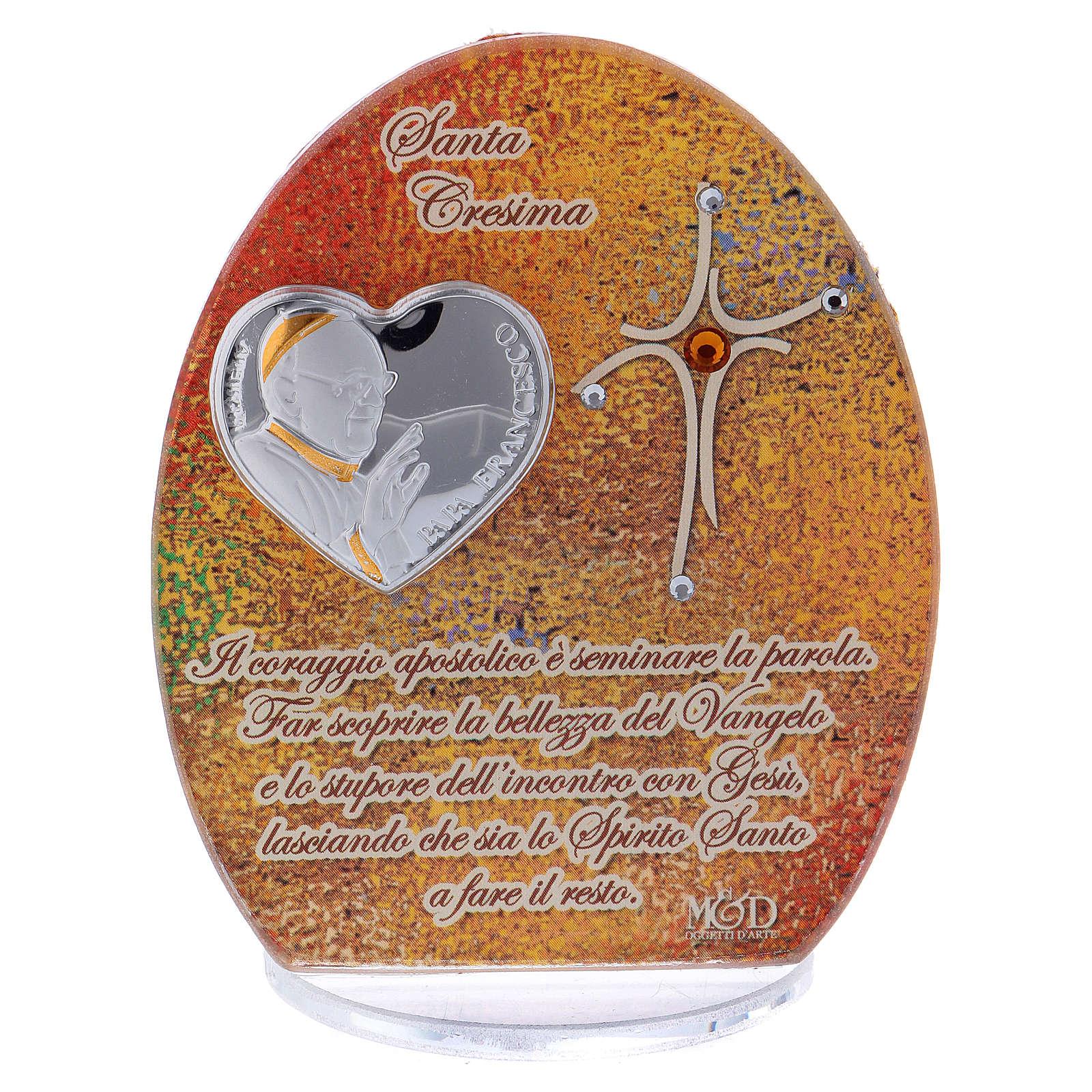 Bomboniera Cresima Papa Francesco 10,5 cm 3