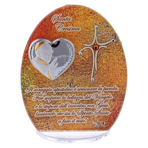 Bomboniera Cresima Papa Francesco 10,5 cm 1