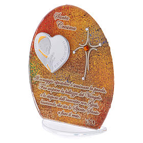 Confirmation favour with Pope Francis image 10.5cm s2