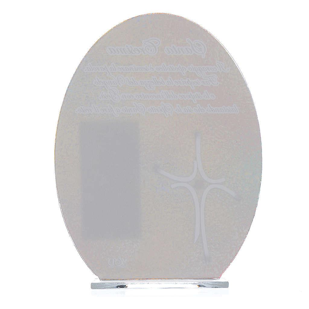 Bonbonnière Confirmation cadre Pape François 16,5 cm 3