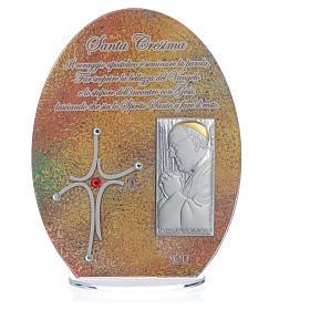Bonbonnière Confirmation cadre Pape François 16,5 cm s3