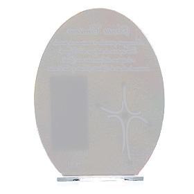 Bonbonnière Confirmation cadre Pape François 16,5 cm s2