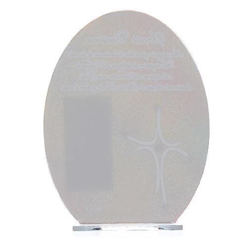 Bonbonnière Confirmation cadre Pape François 16,5 cm 2