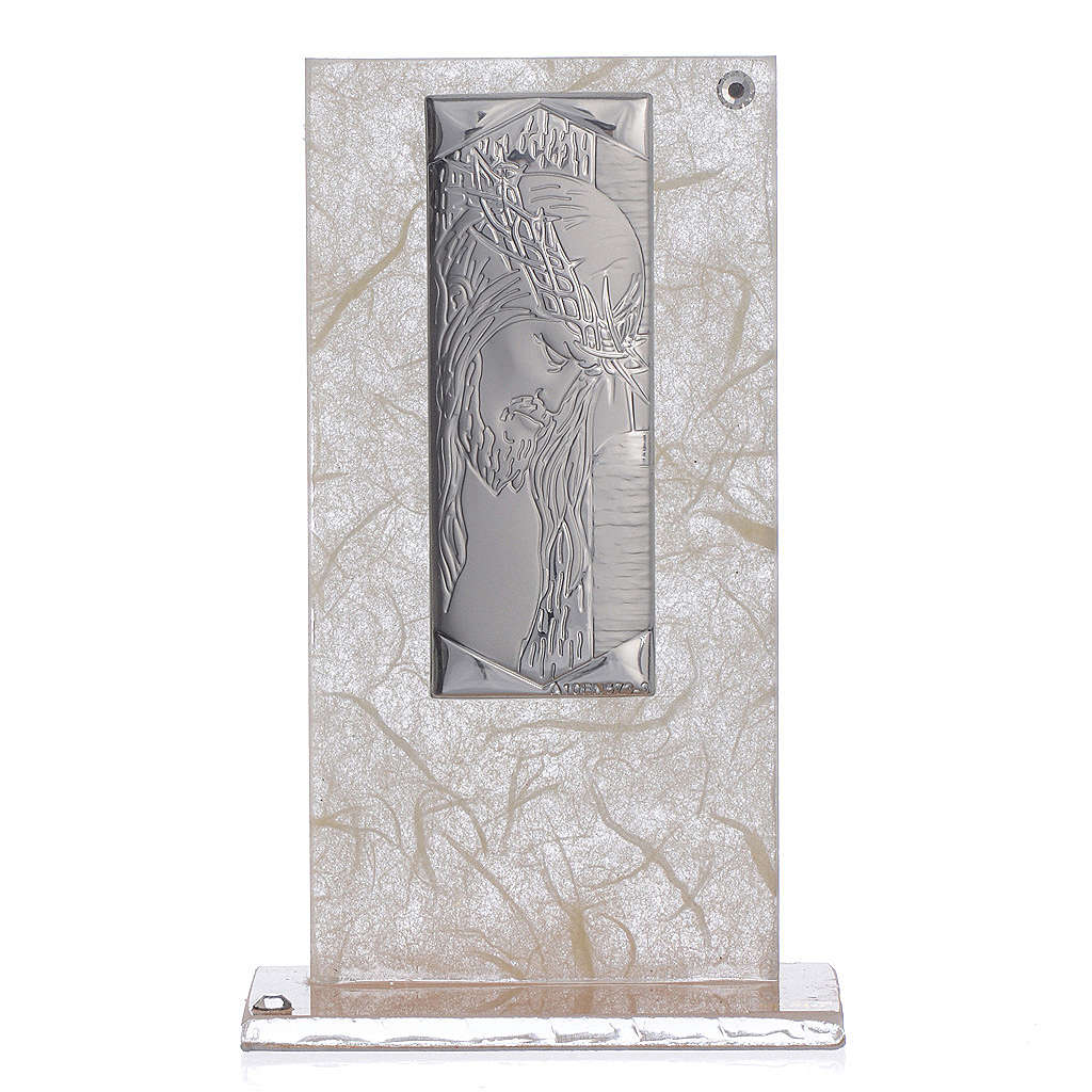 Favour with Christ image in silver, ivory and tobacco colour 3