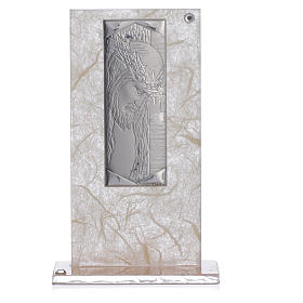 Favour with Christ image in silver, ivory and tobacco colour s3