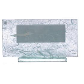 Bonbonnière Baptême argent bleu clair-vert s4