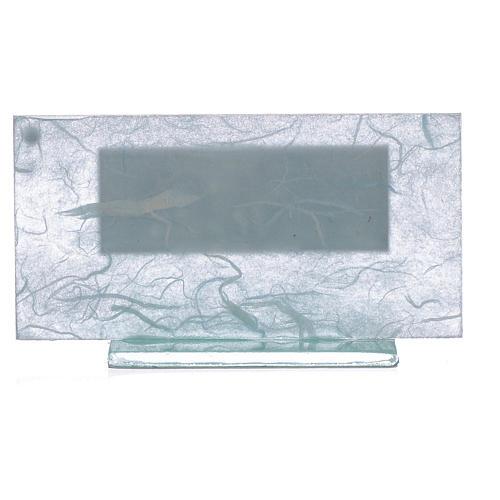Bonbonnière Baptême argent bleu clair-vert 2