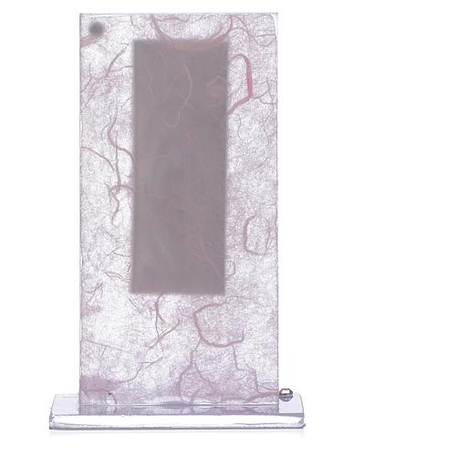 Pamiątka Macierzyństwo srebro kolor różowy i liliowy 2