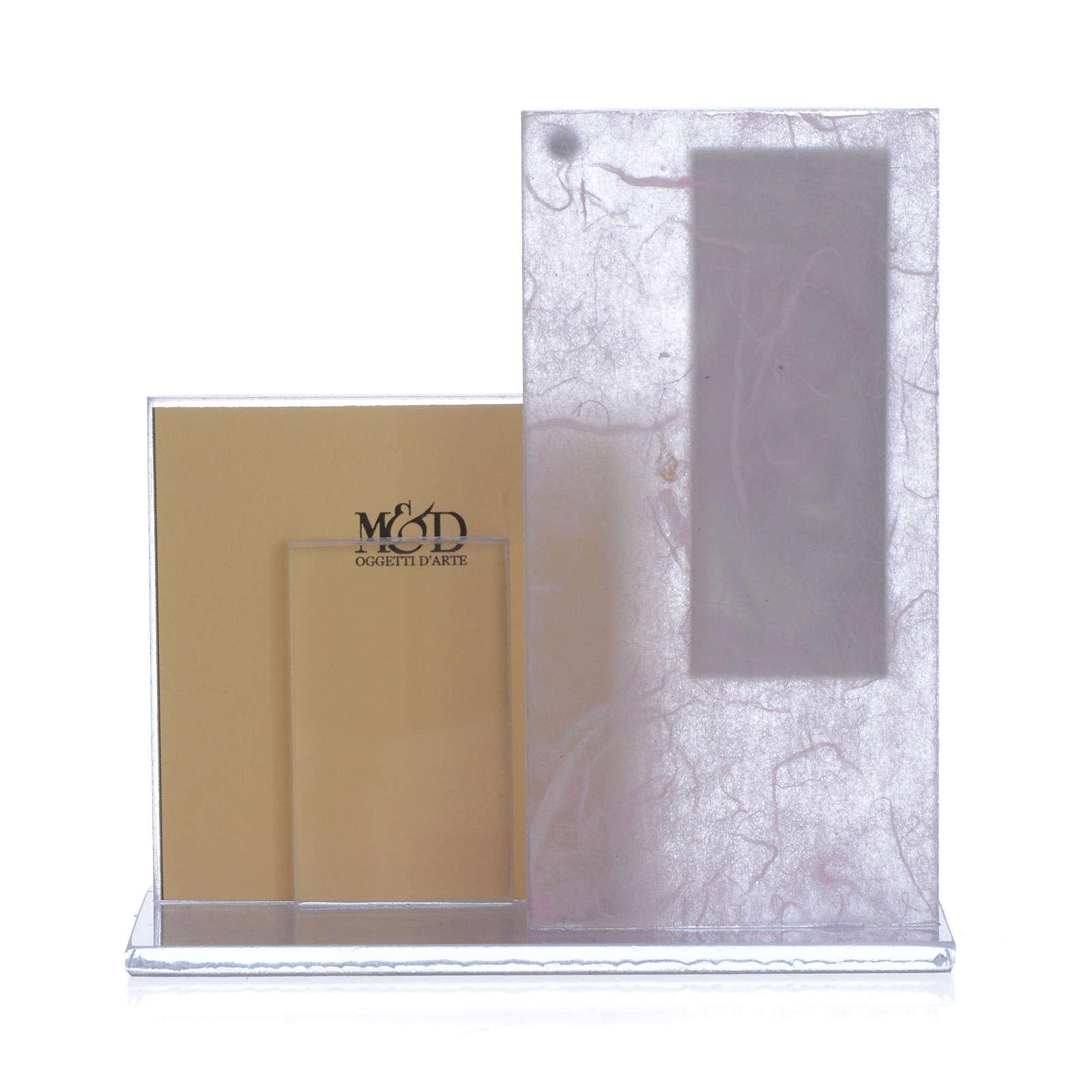 Cuadro con Portarretrato realizado con lámina en plata 3