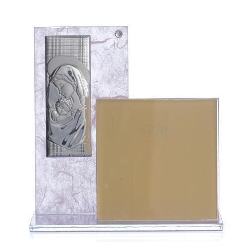 Cuadro con Portarretrato realizado con lámina en plata 1
