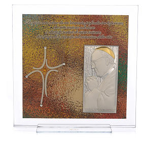 Quadro Matrimonio frase Papa Francesco 23x23 cm s1