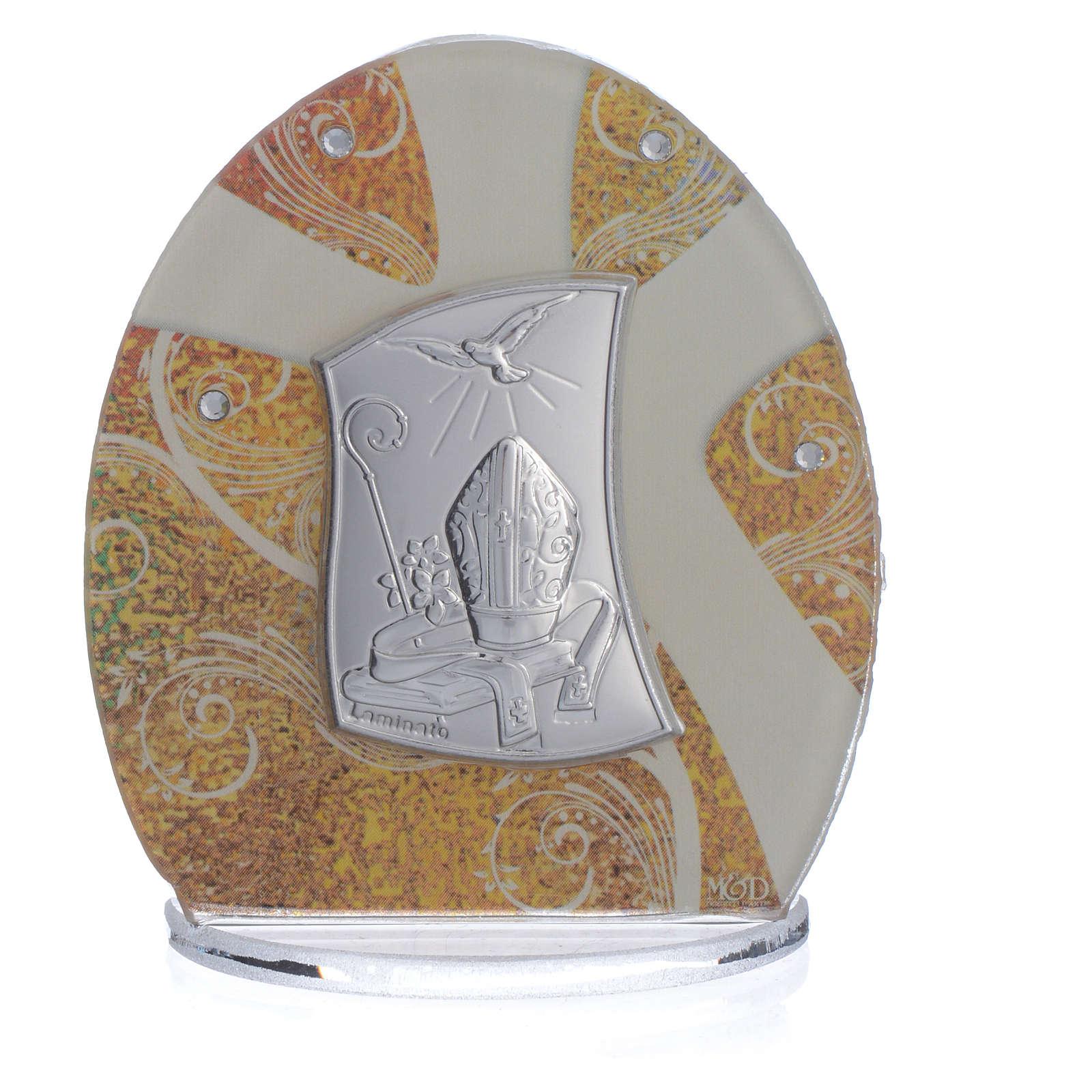 Confirmation Favour in silver foil 8.5cm 3