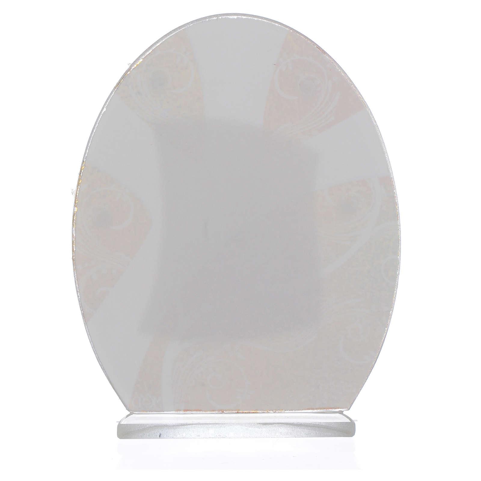 Geschenkidee Kommunion Mädchen Silber Platte 10.5cm 3