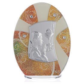Bonbonnière Première Communion Garçon argent 16,5 cm s1