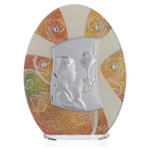 Bonbonnière Première Communion Garçon argent 16,5 cm 1
