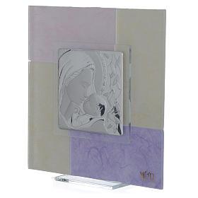 Quadro Nascita rosa - lilla 17x17 cm s2