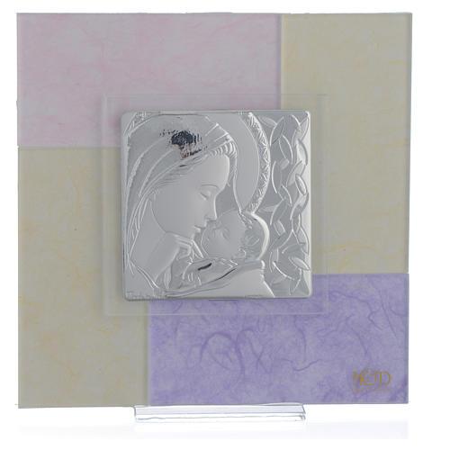 Quadro Nascita rosa - lilla 17x17 cm 1