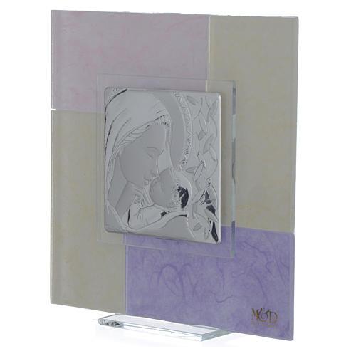 Quadro Nascita rosa - lilla 17x17 cm 2