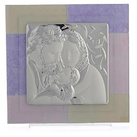 Quadro S. Famiglia rosa - lilla 30x30 cm s1