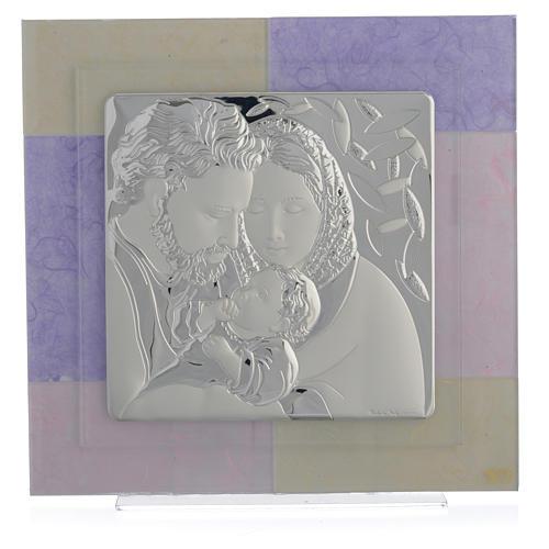 Quadro S. Famiglia rosa - lilla 30x30 cm 1