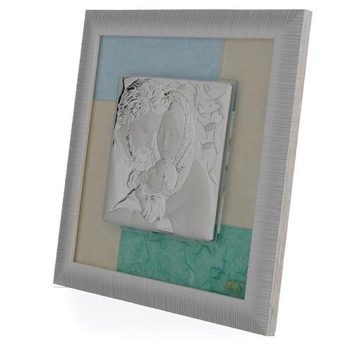 Quadro S. Famiglia Celeste - Verde 23,5x23,5 cm 2