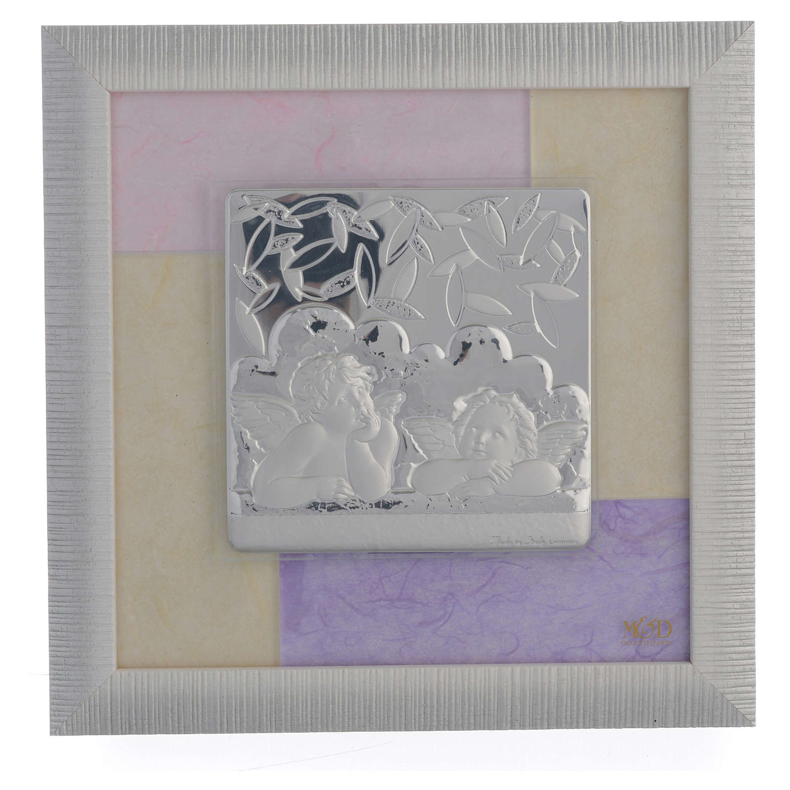 Quadro Angeli  rosa - lilla 23,5x23,5 cm 3