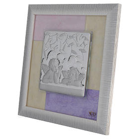 Quadro Angeli  rosa - lilla 23,5x23,5 cm s2