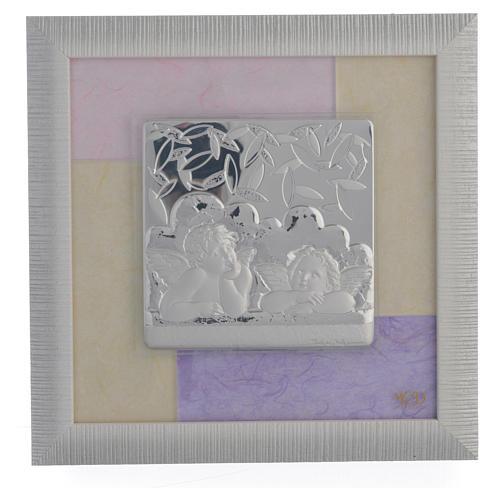 Quadro Angeli  rosa - lilla 23,5x23,5 cm 1