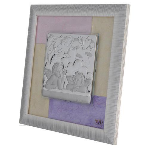 Quadro Angeli  rosa - lilla 23,5x23,5 cm 2