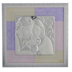 Quadro S. Famiglia rosa - lilla 33x34 cm s1